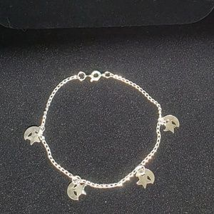 Dark Rose Boutique Jewelry - Silvertone anklet w/ Stars & Moons NWT